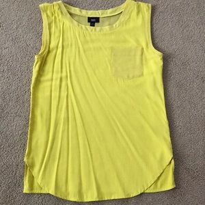 Yellow silky top